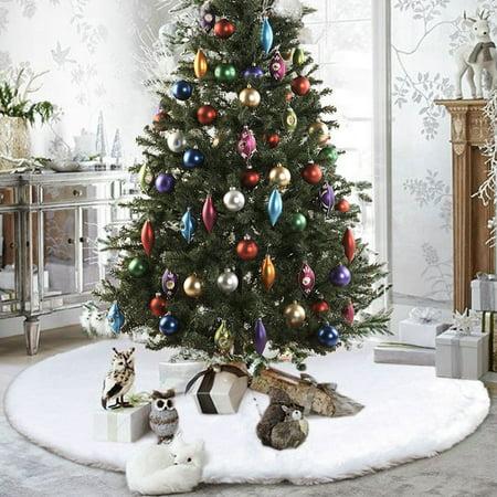 31 35 48 50 Inch Round White Red Christmas Tree Skirt Base