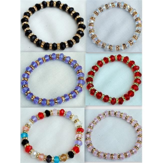 DDI Crystal Bracelet Assorted Colors Case Of 24