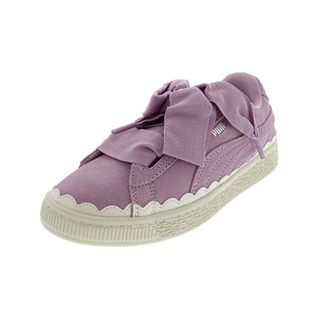 competitive price e6c6b 5bc3d Puma Girl's Suede Heart Rubberized Ps Low Fashion Sneaker. - 2M -  Orchid-Whisper White | Walmart Canada