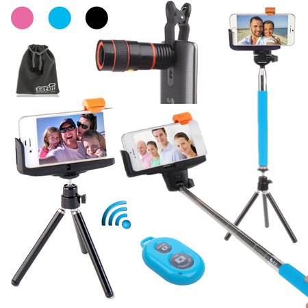 eeekit selfie stick mini tripod remote shutter for iphone 7 6 6s plus samsung. Black Bedroom Furniture Sets. Home Design Ideas