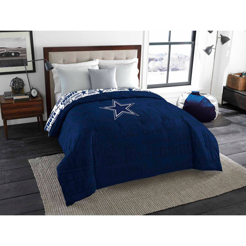 Your Choice NFL Bedding Comforter and Sheet Set- Patriots, Seahawks, Cowboys and more