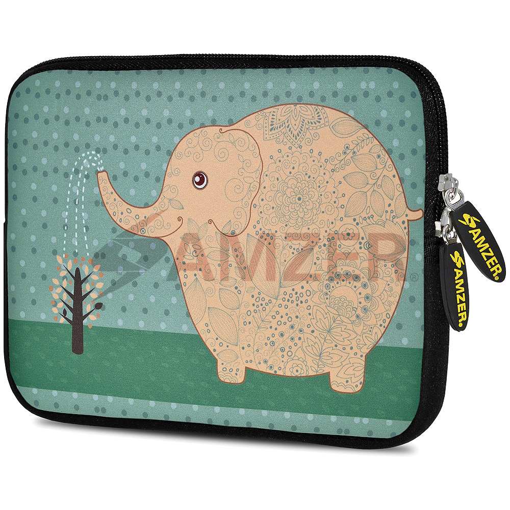 Universal 10.5 Inch Soft Neoprene Designer Sleeve Case Pouch for 10.5 Inch Tablet, eBook, Netbook - Cute Elephant
