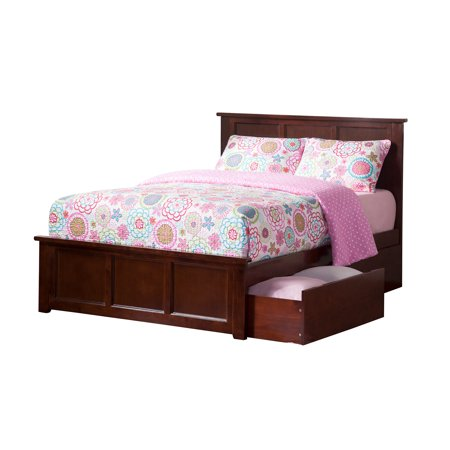 Madison Platform Bed with Matching Foot Board with 2 Urban Bed Drawers in Multiple Colors and Sizes