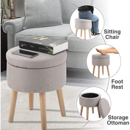 Mf Studio Round Storage Ottoman Shoe, Round Storage Ottoman Coffee Table