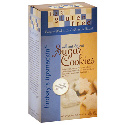 1-2-3 Gluten Free Lindsay's Lipsmackin' Sugar Cookie Mix, 21.6 oz (Pack of 6)