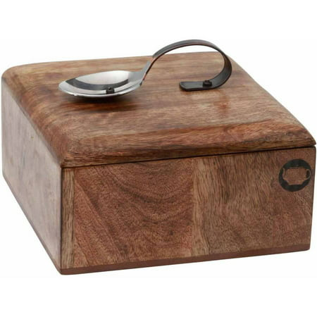 Acacia Wood Tea Caddy