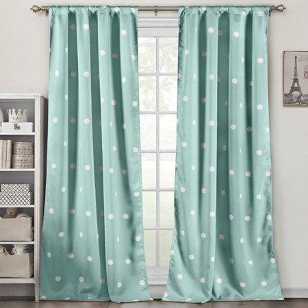 Duck River Dottie Heavy Blackout Pole Top Pair Curtain Panel ()