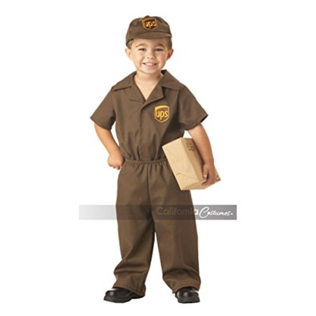 UPS Guy Boy\'s Costume, Medium (3-4),Brown - Ups Guy