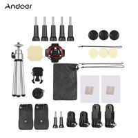Andoer 32-In-1 Basic Common Action Camera Accessories Kit for GoPro hero 7/6/5/4 SJCAM /YI Outdoor Sports Camera Accessories Set