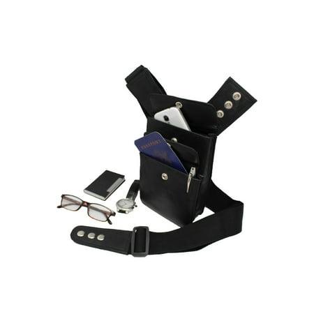 Black Leather Gun Belt Pack Holster for Ruger LCP 380,Sig Sauer P238 with Laser