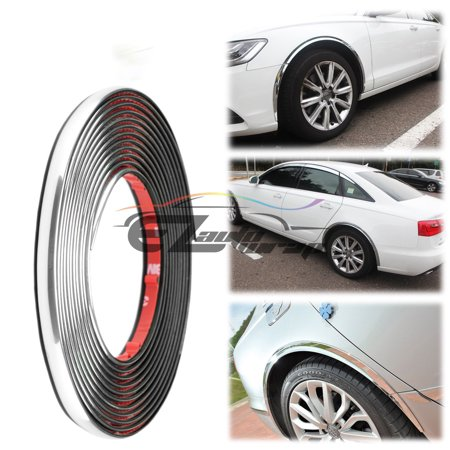 12mm Chrome Wheel Well Fender Decorative Edge Tape Molding Trim Strip - Avalanche Chrome Trim Accessory