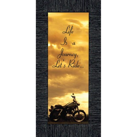 Journey Framed - Life's a Journey, Gifts for Motorcycle Riders, Classical Motorcycle Photo Frame, 6x12 7850