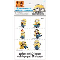 """""""Despicable Me Minions Temporary Tattoos, 24ct"""""""
