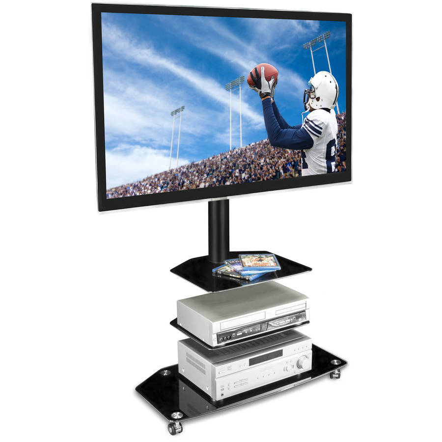 Mount It Mobile Tv Stand With Rolling Casters Three Tiered