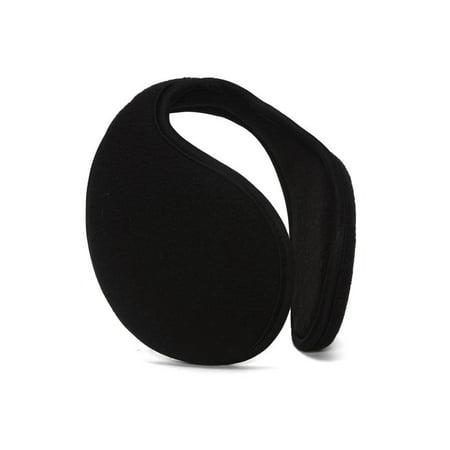 Top Headwear Wrap Around Fleece Ear Muff, Black (Thermal Headwear)