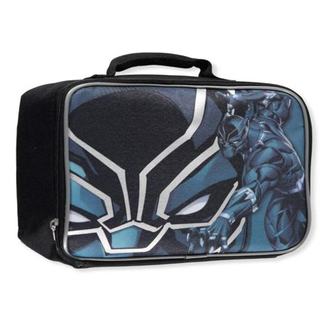 Bioworld Merchandising, Inc. Marvel Avengers Black Panther PVC & BPA-Free Insulated Lunch Tote Box, Exterior Dimensions: 7.75 in height, 9.75 in width and 3.5 in.., By Bioworld Merchandising Inc