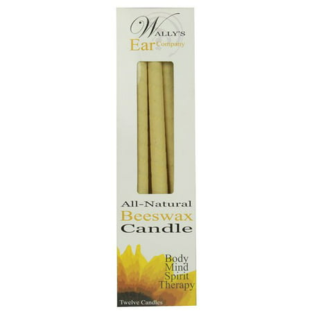 Bougies d'oreille naturelle Wally, cire d'abeille, 12 Ct