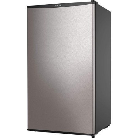 hOmeLabs Mini Fridge - 3.3 cu ft Under Counter Refrigerator with Covered Chiller Compartment - Small Drink Food Storage Machine for Office, Dorm or Apartment with Adjustable Removable Glass (Best Mini Fridge For Drinks)