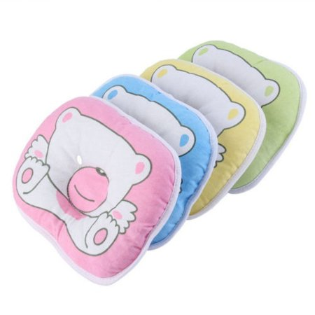 Newborn Infant Baby Bear Pattern Pillow  Support Cushion Prevent Flat Head Soft