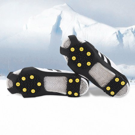 - HERCHR Outdoor Snow Antiskid Spikes Grips Mountain Climbing Footwear Ice Traction Cleats, Snow Spikes, Snow Traction Cleats
