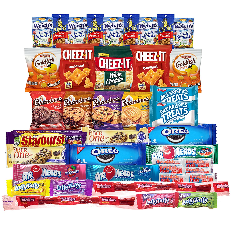 Snacks Care Package (Variety Pack of 40) Crackers, Cookie...