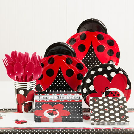 Ladybug Fancy Birthday Party Supplies Kit - Lady Bug Party