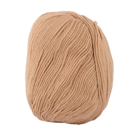 Lady Sweater Scarf Gloves Hat Crochet Hand Knitting Weaving Yarn Cord Khaki 50g