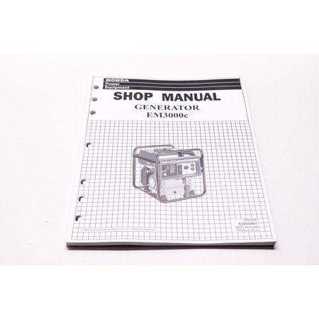 Honda 61Z0300Y Power Equipment Service Shop Manual