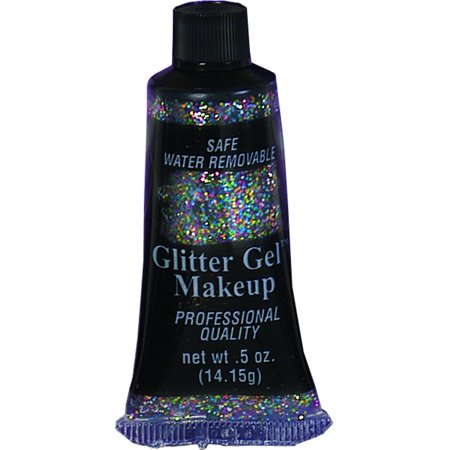 Deluxe Rainbow Multi-Color Glitter 0.5 Ounce Tube Halloween Costume Make-Up (Halloween Test Tube Shots)