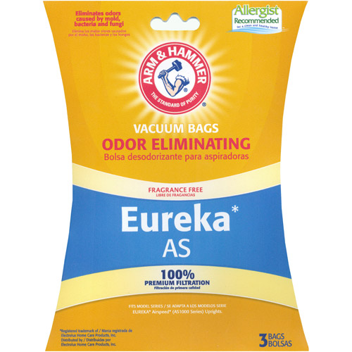 Arm & Hammer Odor Eliminating Vacuum Bags, Eureka AirSpeed Style, 9-Pack