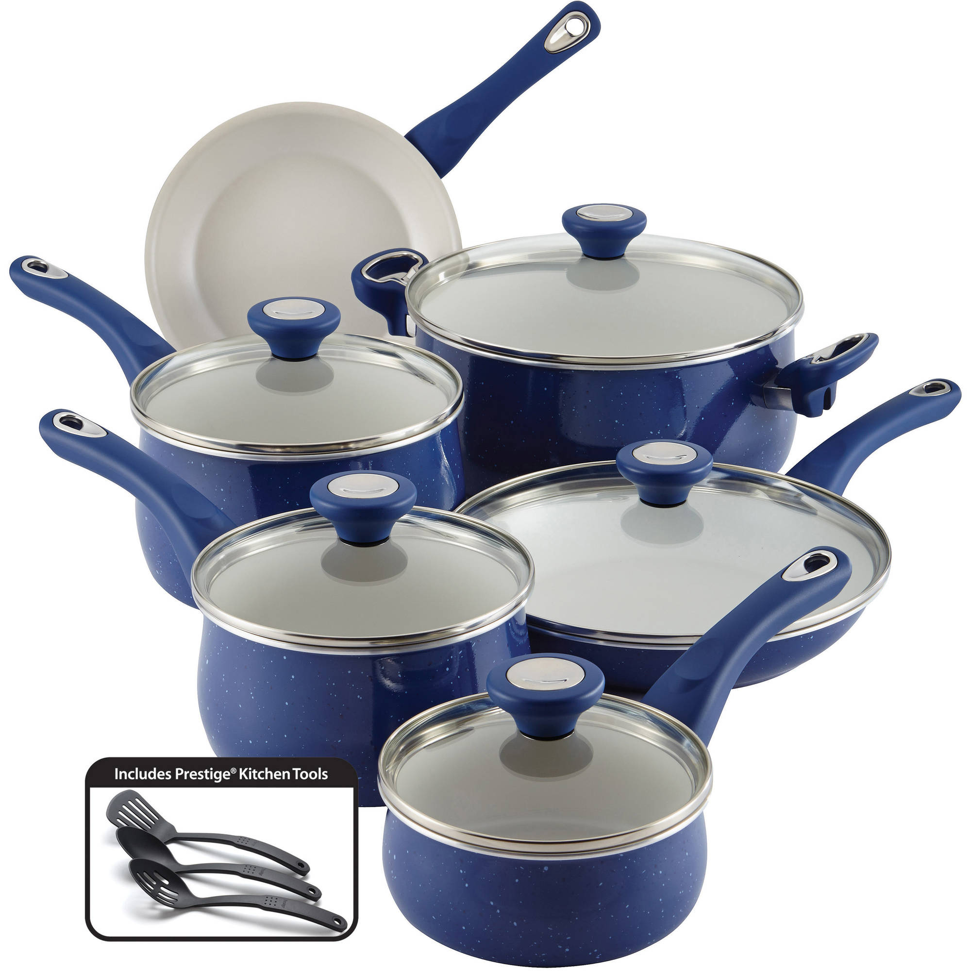 Farberware New Traditions Speckled Aluminum Nonstick 14-Piece Cookware Set