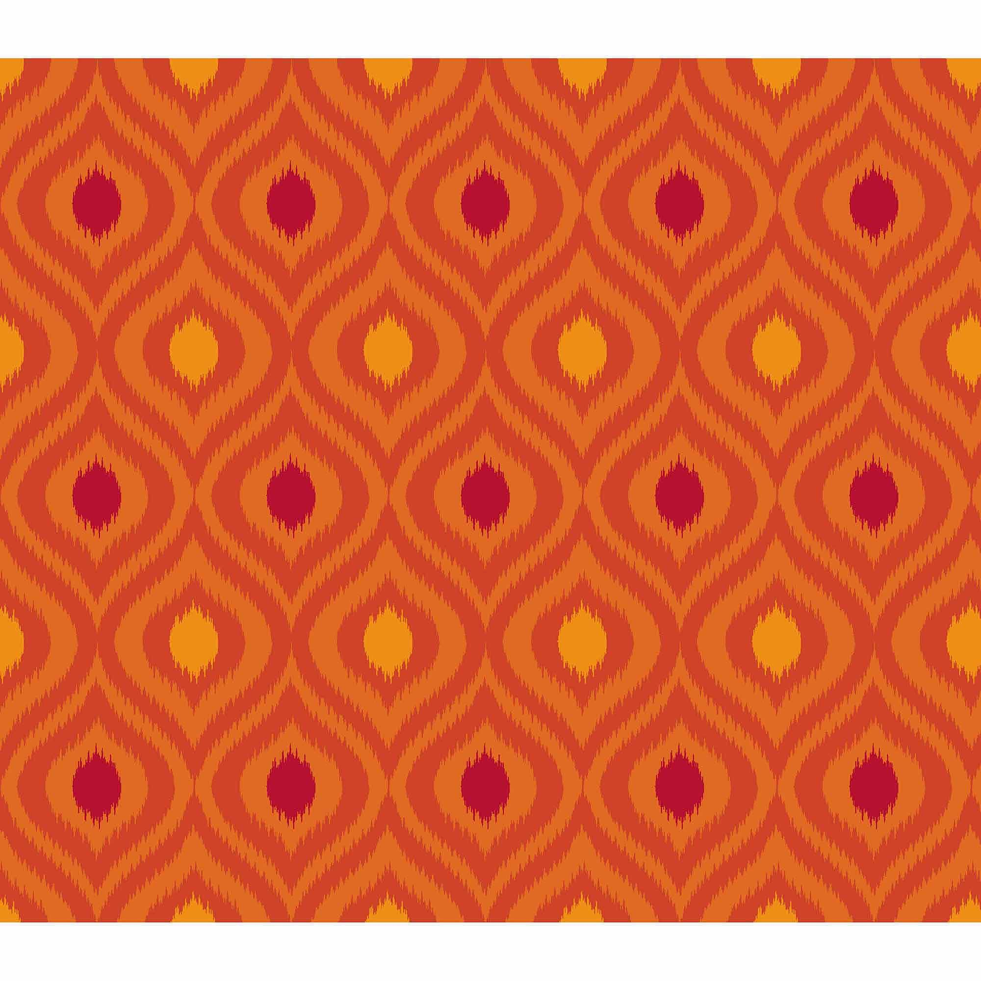 Springs Creative Cotton Blenders Tonal Ikat, Flame, Fabric by the Yard