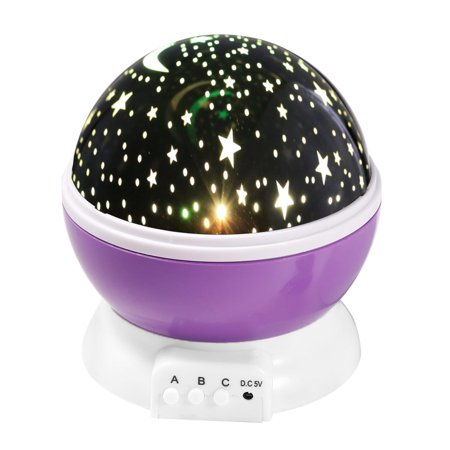 Electronic Auto Shut Off Timers - Constellation Night Light Star Sky with LED Timer Auto-Shut Off, 360 Degree Rotation Colorful Moon Night Lamp Gift for Baby Kid Children Bedroom Nursery