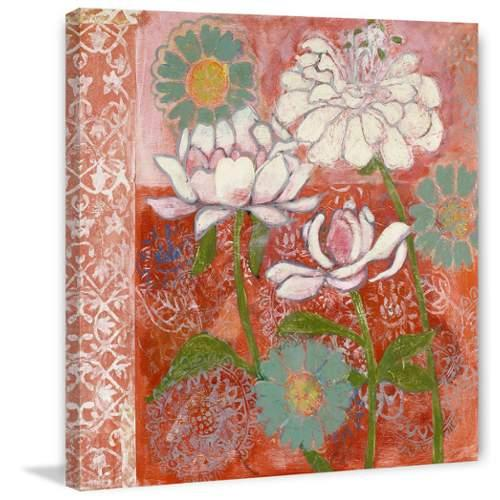 Marmont Hill  Peony and Dahlia  Wall Decor  Flowers  Home Decor  Canvas Art  ;32 x 32