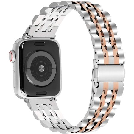 Fullmosa Apple Watch Band Compatible Apple Watch 38mm/40mm/42mm/44mm, Fullmosa Armor Stainless Steel Apple Watch Band - image 4 of 5