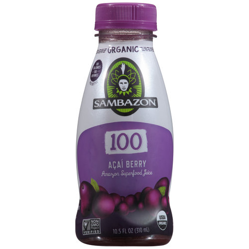 Sambazon 100 Acai Berry Amazon Superfood Juice, 10.5 fl oz