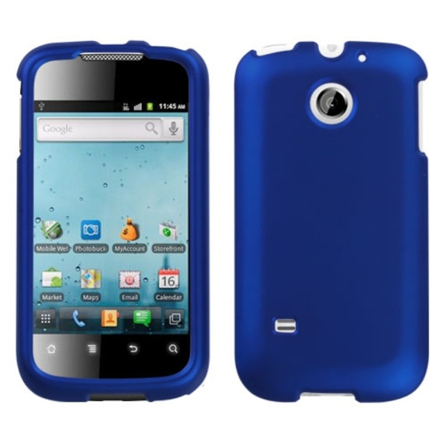 Insten Titanium Solid Dark Blue Phone Case for HUAWEI: M865 (Ascend II), U8651T (Prism), U8651S (Summit)