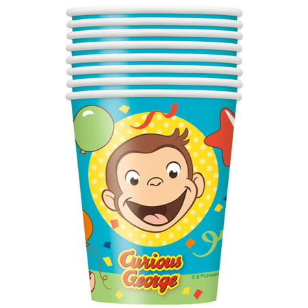 Curious George Paper Cups, 6-Pack (48 Cups)](Curious George Cup)