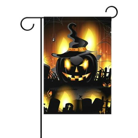 POPCreation Halloween Pumpkin Polyester Garden Flag Outdoor Flag Home Party Garden Decor 28x40 inches - Six Flags Halloween Party