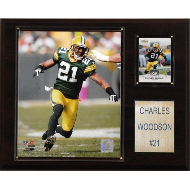 C & I Collectables 1215CWOOD NFL Charles Woodson Green Bay Packers Player Plaque