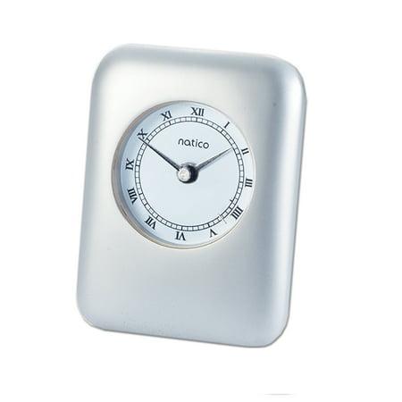 Monogram Online Pearl Silver Contempo Alarm Clock
