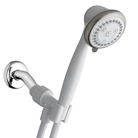 Waterpik 6-Mode EcoFlow Hand Held Shower Head, White, 1.8 GPM