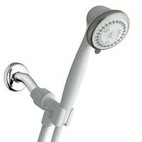 Waterpik 6-Mode EcoFlow Hand Held Shower Head, White, 1.8 GPM EFN-651E
