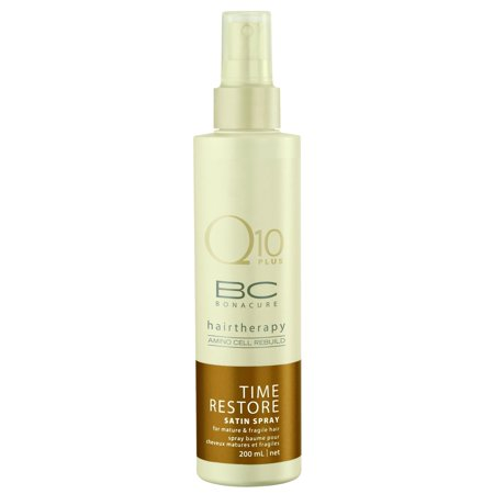 Schwarzkopf Professional BC Bonacure Q10 Time Restore Satin Spray Conditioner for Mature & Fragile Hair 200 ml/6.8
