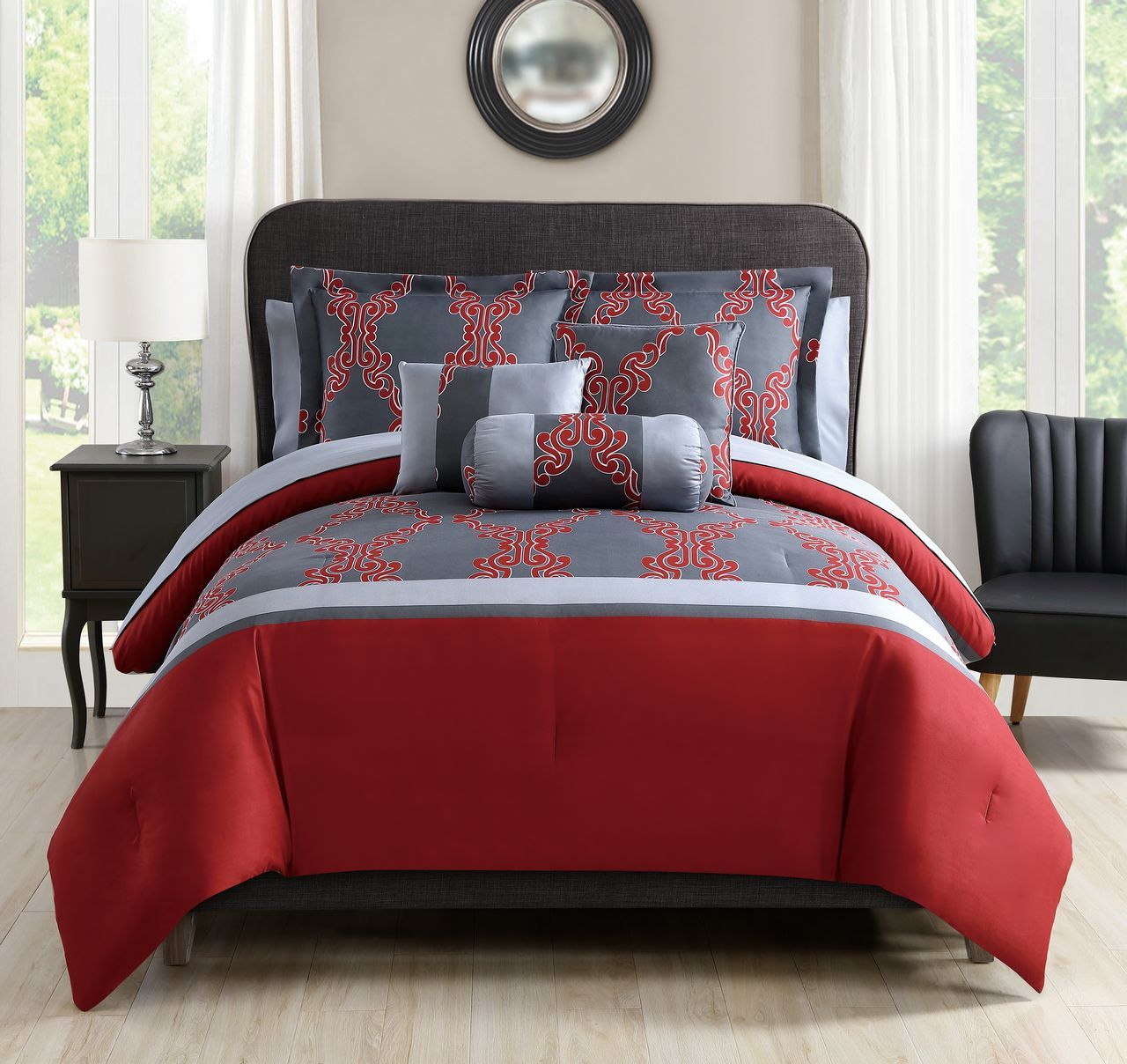 design amazing ideas cool set comforter and grey red