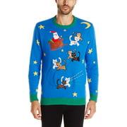 Mens Sweater Multi Ugly Christmas Crewneck XL