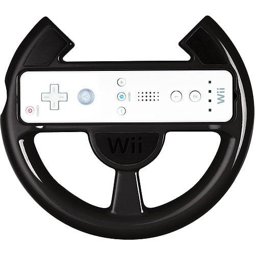 POWER A Wii Racing Wheel, Black (Wii)