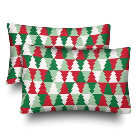 GCKG Christmas Tree Seamless Pattern Pillow Cases Pillowcase 20x30 inches Set of 2 - image 4 de 4