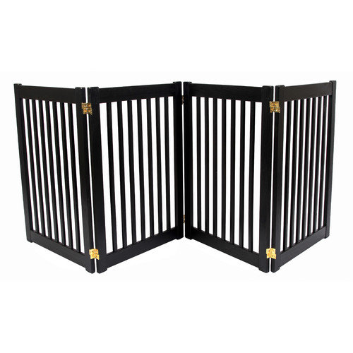 Dynamic Accents Four 32'' Panel Free Standing Pet Gate in Black