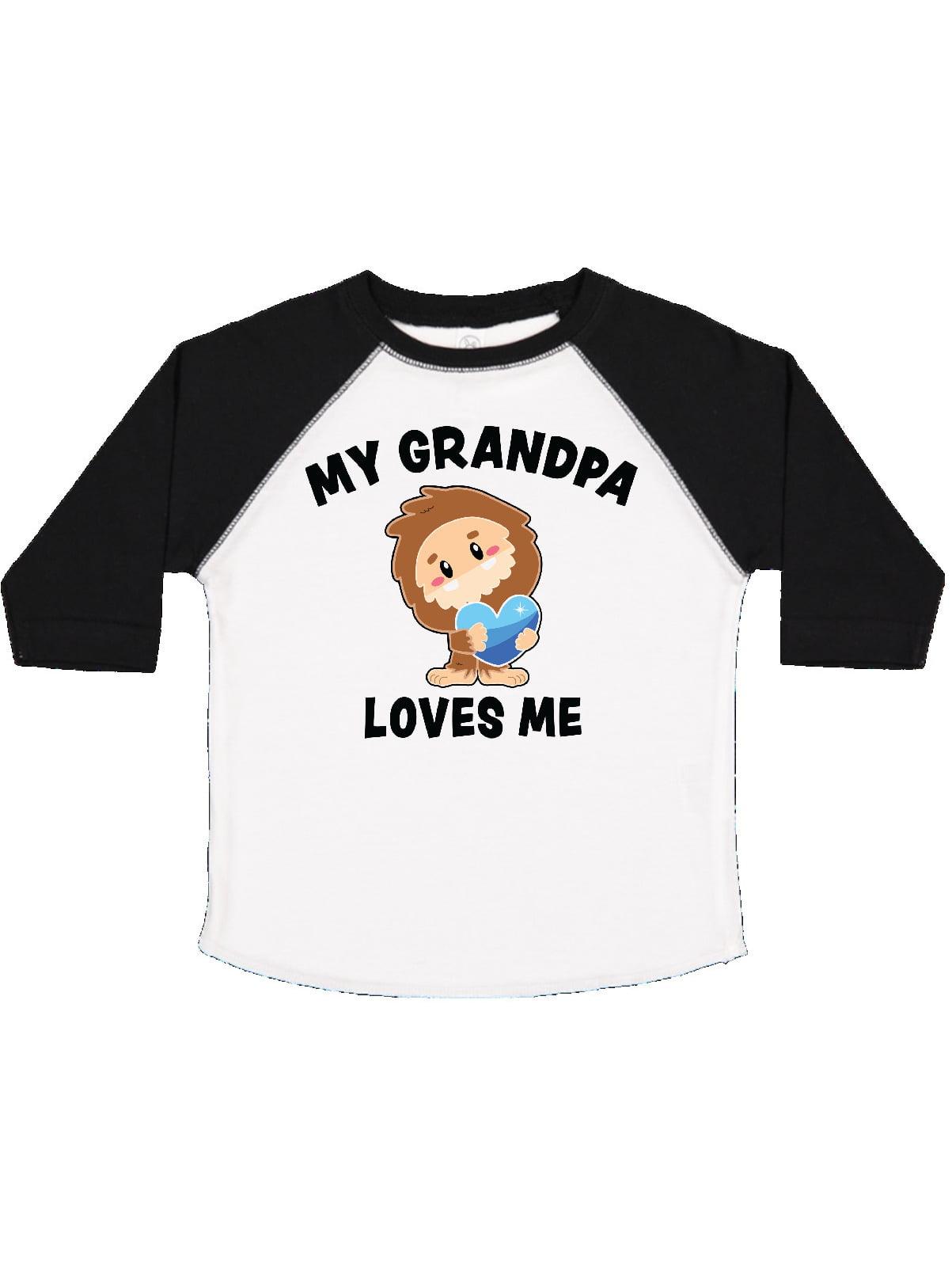 inktastic Cute Bigfoot My Grampa Loves Me Baby T-Shirt
